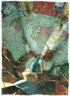 Velka's Childhood: Illustration by Polina Bakhtina #illustration #map #polina_bakhtina