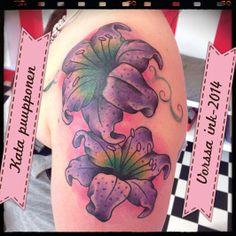Cover up!! https://www.facebook.com/VorssaInk, http://tattoosbykata.blogspot.fi, #tattoo #tatuointi #katapuupponen #vorssaink #forssa #finland #traditionaltattoo #suomi #oldschool #lily