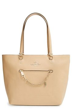 COACH+'Town+Car'+Leather+Tote+available+at+#Nordstrom