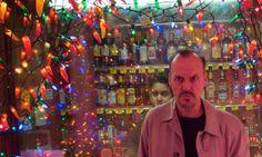 Stocking up for a celebration …Michael Keaton in Birdman.