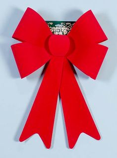 Flocked Red Bow. Great for use on the outside of your home or business. Available in different sizes. #AAChristmas #Christmas #Bows #ChristmasBows