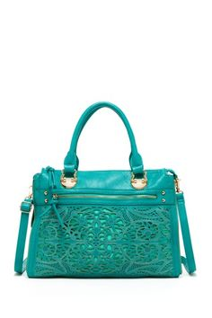 Laser cut Tote Bag in a beautiful turquoise shade. This bag really stands out.