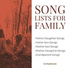 Song Lists to Help Find the Best Songs for Family Dedications and Special Occasions. When you need songs for family members and don't want to spend hours searching online, start here. New Country Songs, Country Wedding Songs, Country Song Lyrics, Country Music Artists, Mother Daughter Songs, Father Songs, Memorial Songs, Songs For Sons, Family Songs