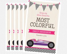 Cute Derby Style Awards for Girls. Girl Scouts, Powder Puff Derby, Activity Days.