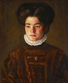 Portrait of a Girl (the Artist's Sister, Sophie) c. 1908-11 by Mark Gertler (British 1891‑1939)