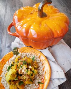 Veggie curry has never tasted so good. Vegan and Gluten Free this recipe is perfect for using seasonal Pumpkin innards - we need to realise that pumpkins are a valuable source of food and not just for decoration. It can also be made year round using fresh or frozen butternut squash.