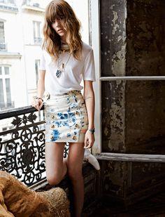 Freja Beha Erichsen for Glamour France August 2014 byFred Meylan