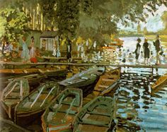 Monet is one of my faves..... Title: Bathing at La Grenouillere Artist: Claude Monet