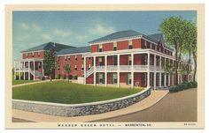 Warren Green Hotel Warrenton Virginia Linen Era Old by Chipteretia