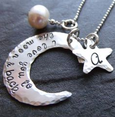 To The Moon and Back with Initial Star  Hand by JessicaMaiaDesigns
