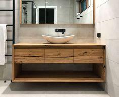 Home Decor Decoracion Bespoke Timber Design Leopold.Home Decor Decoracion Bespoke Timber Design Leopold Timber Bathroom Vanities, Timber Vanity, Bathroom Cabinetry, Bathroom Renovations, Vanity Bathroom, Modern White Bathroom, Modern Bathroom Design, Bathroom Interior Design, Small Bathroom
