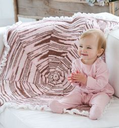 Your little one is the sweetest thing in your life, and now you can knit her an equally as sweet Neapolitan Swirl Knit Baby Blanket. The swirling design of this baby afghan is completely hypnotizing, and unbelievably easy to pull off.