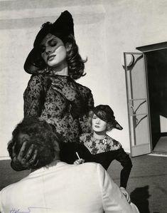 Helmut Newton - Nastassja Kinski with Marlene Dietrich Doll. 1983. S)