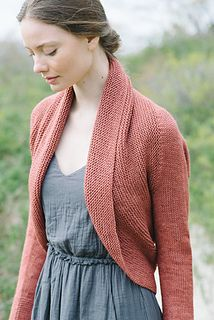 Maeve Shrug by Carrie Bostick Hoge - Worsted weight - knit side to side - lovely shape.