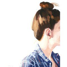 8 x 10 haar kunst bun print top knot 41 von elizabethmayville