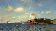 Isaac Levitan (1860-1900), Vent Frais, Volga - 1895
