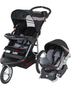 This is THE travel system for parents on the go. The jogging stroller's swivel wheel allows for easy maneuverability, and the car seat adjusts with just one hand! Click above to buy the set.