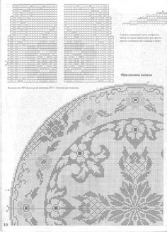 (5) Gallery.ru / Фото #16 - Moda_i_model'11-2004 - tr30935 Crochet Curtains, Crochet Tablecloth, Tapestry Crochet, Knit Crochet, Bobbin Lace Patterns, Embroidery Patterns, Cross Stitch Patterns, Crochet Patterns, Crochet Dollies