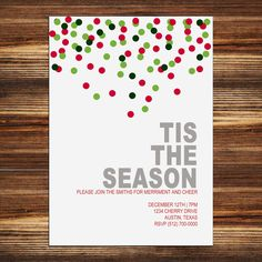 Printable Christmas Party Invitation (Digital File). $12.00, via Etsy.