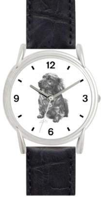 DACHSHUND LH DOG (MS) - WATCHBUDDY® DELUXE SILVER TONE WATCH - Black Strap - Small Size (Children's: Boy's & Girl's Size) WatchBuddy. $49.95