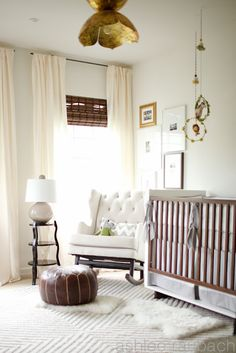 Gorgeous neutral nursery.