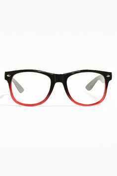 fe3a6a3850  Jude  Large Ombre Clear Wayfarer Glasses - Black Red - 5362-6