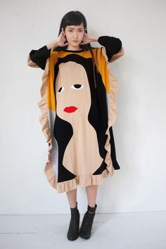 Daniel Palillo - FAMOUS PAINTING MONA LISA DRESS - Olive Shoppe - Olive Shoppe
