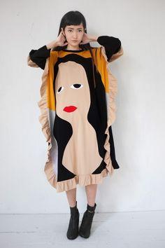 Daniel Palillo - FAMOUS PAINTING MONA LISA DRESS - Olive Shoppe - Olive Shoppe