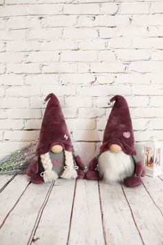 Christmas gnomes couple Scandinavian plush ornament toy Tomte Nordic New Year home decor Nisse holiday gift Christmas elf Homemade Christmas Decorations, Craft Free, Cheap Gifts, Christmas Gnome, Reno, Handmade Toys, How To Introduce Yourself, Holiday Gifts, Plush