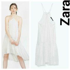 Zara studio flowing studio dress medium M white New w tags Zara Dresses