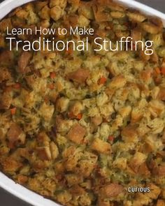 Traditional Stuffing (I'm tired of using the boxed stuff)