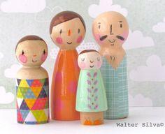 Gekritzel Peg Puppen von Walter Silva  modernen von WalterSilva