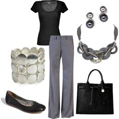 Black and Gray, created by janene-krug on Polyvore