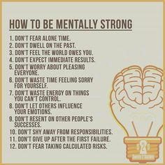 Learn how to be mentally strong. @successdictionary  via respective owner  Reference from @secrets2success  Double tap if you agree. #successdictionary
