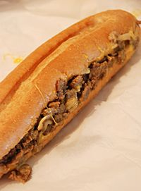 Geno's Cheesesteaks and Deli   foot-long Philly
