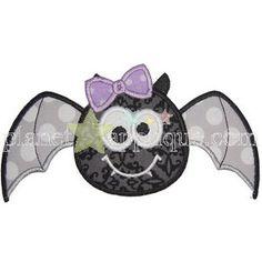cute Girl Bat Applique
