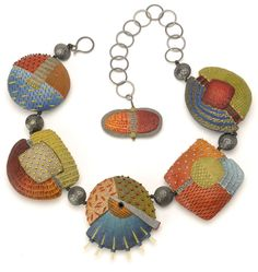"""Tribal Neckpiece - Again """"there's nothing new under the sun"""". Compare this to Vicki Grant's work on this board and the African Protective Amulet Man's Necklace."""