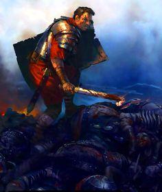 Last man standing- Roman Legion survivor of a battle in Germania