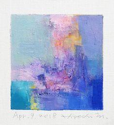 Il s'agit d'une peinture à l'huile abstraite par Hiroshi Matsumoto Titre : 9 avril 2018 Taille : 9,0 cm x 9,0 cm (environ 4 x 4) Toile taille : 14,0 cm x 14,0 cm (env. 5,5 x 5,5) Technique : Huile sur toile Année : 2018 Peinture est feutré en écru pour s'adapter à cadre standard 8