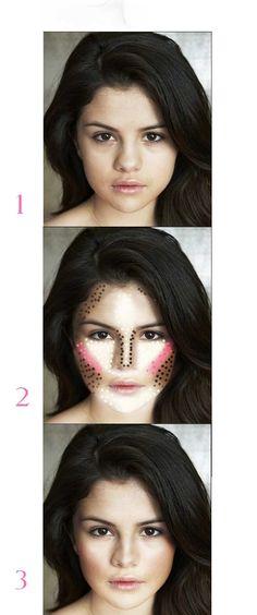 Maquillaje para rostro corazón