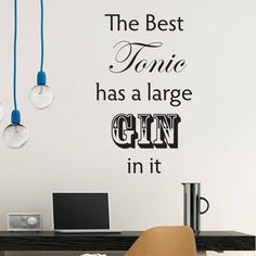 Are you interested in our Gin Lovers Wall Quote? With our gin quote wall sticker you need look no further.