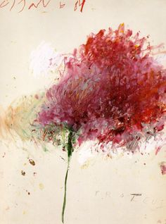 Cy Twombly's Proteus ... which can mean first or refer to elusive, changeful nature. I like the second one.