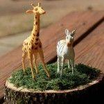 Enfeites de mesa da festa do safari rústica