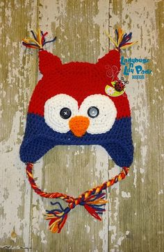 Hand crocheted owl hat - perfect for your little one! Only available at Get Pinned!