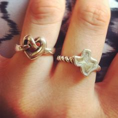 This stylish James Avery customer wears multiple rings to show what's important to her...love and Texas. Which James Avery rings do you wear together? Show us by tagging your photos online #MyJamesAvery. #JamesAvery