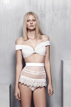 Zimmermann | Resort 2015 Collection | Style.com | this tasteful two piece white bikini is going to flatter at any beach or poolside
