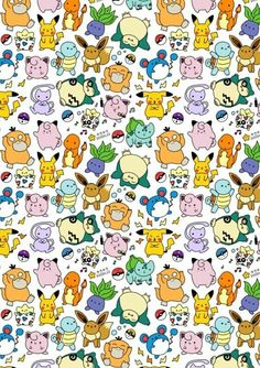 Image shared by Daniela Camacho. Find images and videos about pattern and pokemon on We Heart It - the app to get lost in what you love. Cute Pokemon Wallpaper, Kawaii Wallpaper, Wallpaper Iphone Cute, Disney Wallpaper, Cute Wallpapers, Diy Kawaii, Pokemon Backgrounds, Pokemon Party, Pattern Wallpaper