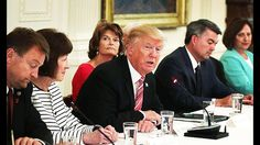 Meeting Gets Awkward When Trump Knows NOTHING About Trumpcare - YouTube