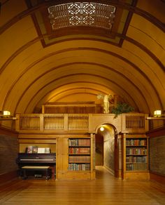 Frank Lloyd Wright's Home and Studio in Chicago - children's playroom complete with a stage!