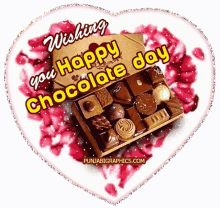 Chocolate Day Pictures, Happy Chocolate Day Images, Happy New Year Pictures, Happy Valentines Day Images, International Chocolate Day, Hindi Good Morning Quotes, Wife Jokes, Image Hd, Images Gif
